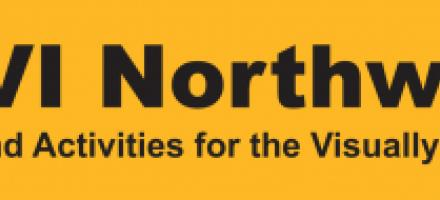 SAVI Northwest logo (Sports and Activities for the visually impaired) Yello / Black Hi Vis logo